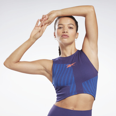 Women Cycling Seamless Crop Top