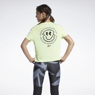 Polo RE SS GRAPHIC Amarillo Mujer Running