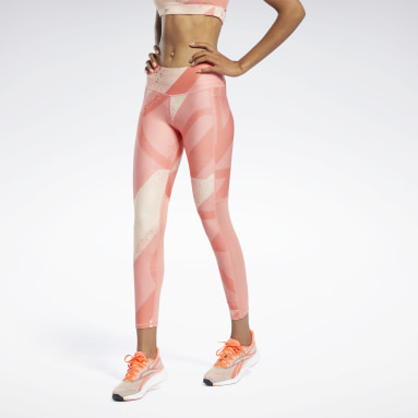 Licras Run Essentia Allover Print Leggings Rojo Mujer Running