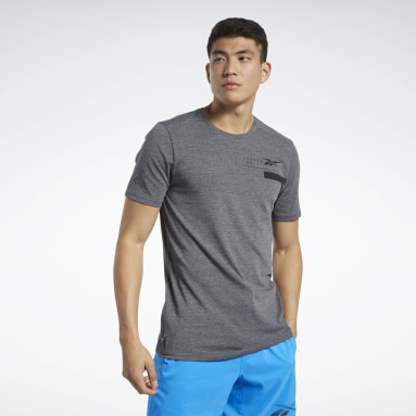 Men Training Black ACTIVCHILL+COTTON Tee