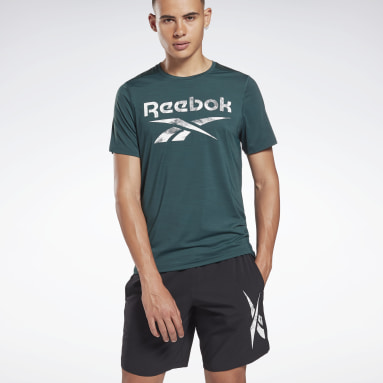 Heren Crosstraining Groen Workout Ready Activchill T-shirt
