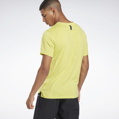 Men HIIT Yellow United By Fitness Perforated Tee