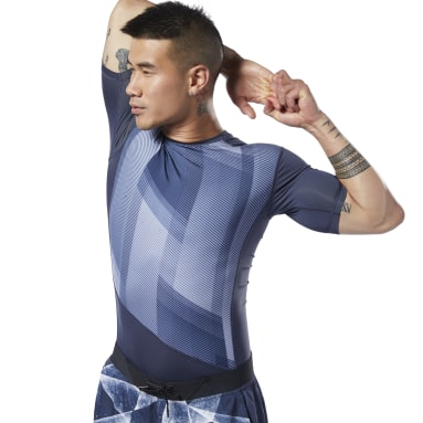 Men Training Blue One Series Training Compression Tee