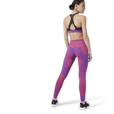 Calzas Rebook Lux 2.0 Violeta Mujer Fitness & Training