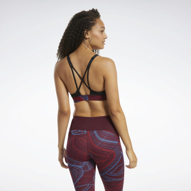 Women Studio Burgundy Hero Medium-Impact Strappy Bra