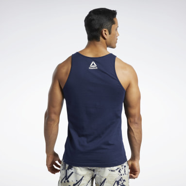 Men Cross Training Blue Reebok CrossFit® Games Logo Tank Top