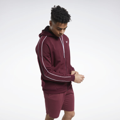 Heren City Outdoor Bordeaux Workout Ready Full-Zip Hoodie