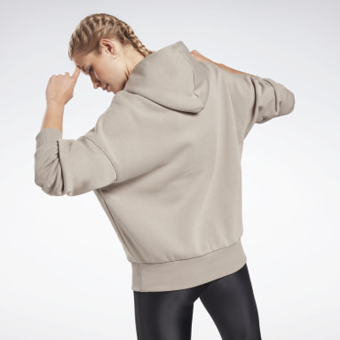 Women Studio Grey Retro Oversize Hoodie