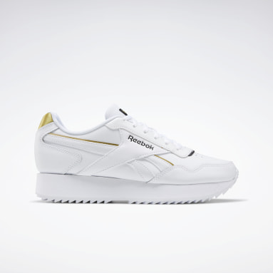 Dames Classics Wit Reebok Royal Glide Ripple Double Schoenen
