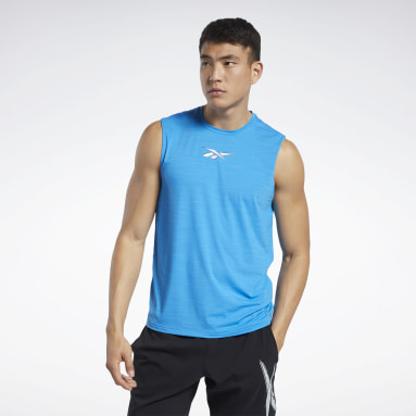 Men Training Blue Workout Ready ACTIVCHILL Sleeveless Tee