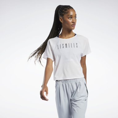 Women Studio Pink LES MILLS® Light Woven Tee