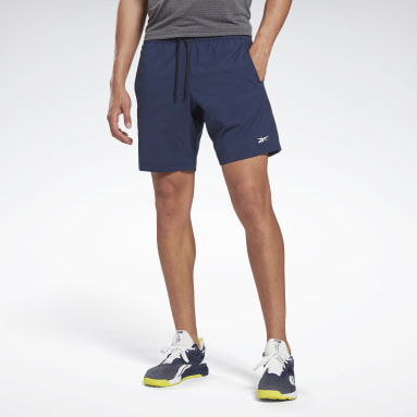 Men HIIT Blue Workout Ready Shorts