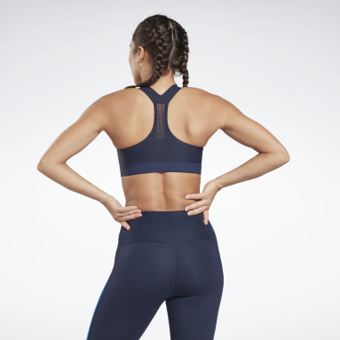 Women Studio Blue Reebok PureMove Bra Motion Sense ™