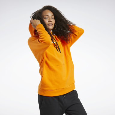 Sweat à capuche Vector Quik Cotton Orange Femmes City Outdoor