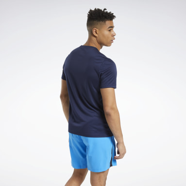 Men Cycling Blue Workout Ready Graphic Tee