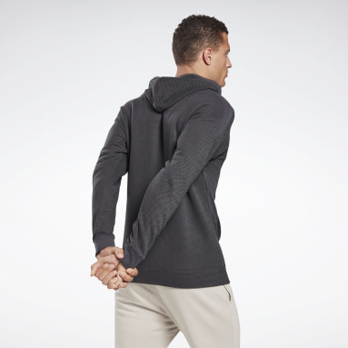 Heren Fitness & Training Zwart Training Essentials Gemêleerde Hoodie