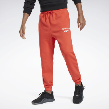 Men Training Red Reebok Identity Big Logo Joggers
