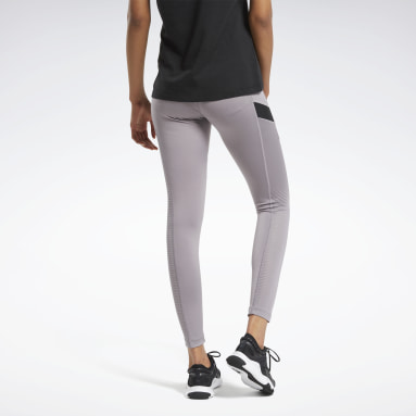 Women Training Grey Workout Ready Mesh Leggings