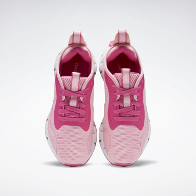 Girls Running Pink Zig Dynamica Shoes