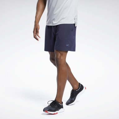 Männer Studio Les Mills® DreamBlend Cotton Shorts Blau