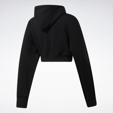 Women Classics Black Classics Cropped Heavyweight French Terry Hoodie