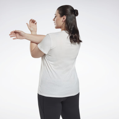 T-shirt Graphic Vector (Grande taille) Blanc Femmes Fitness & Training