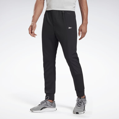Men City Outdoor Black Knit-Woven Tracksuit Bottoms