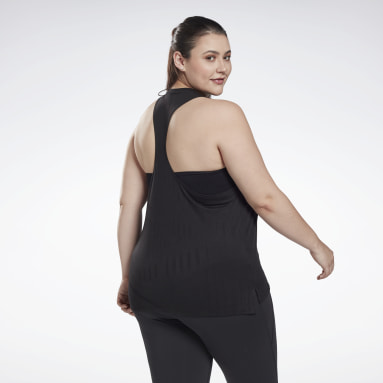 Women Cycling Black Burnout Tank Top (Plus Size)