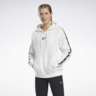 Women Fitness & Training White Training Essentials Tape Pack Hoodie
