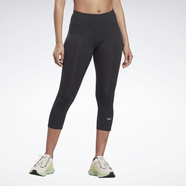 Women Trail Running Black Running Essentials 3/4 Leggings