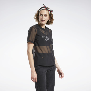 Women Classics Black Classics Sheer T-Shirt