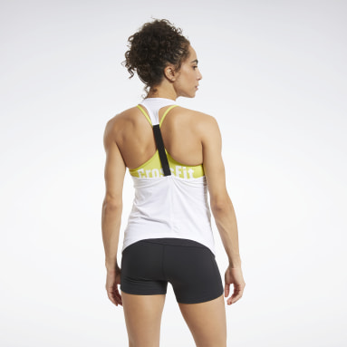 Dames Crosstraining Wit CrossFit® ACTIVCHILL Tanktop
