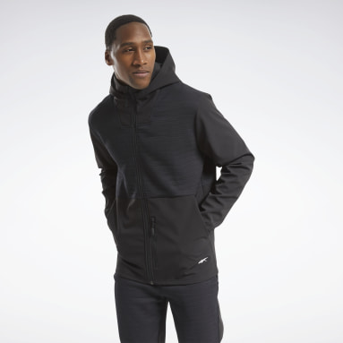 Men Hiking Black Thermowarm Deltapeak Full-Zip Control Hoodie