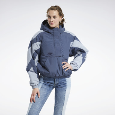 Women Classics Blue Classics Twin Vector Puff Jacket