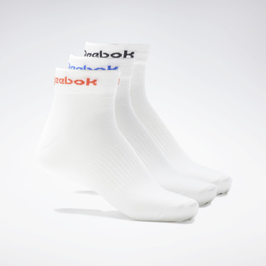 Fitness & Training White Active Core Ankle Socks 3 Pairs