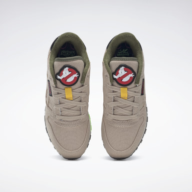 Boys Classics Beige Ghostbusters Classic Leather PS Shoes - Preschool