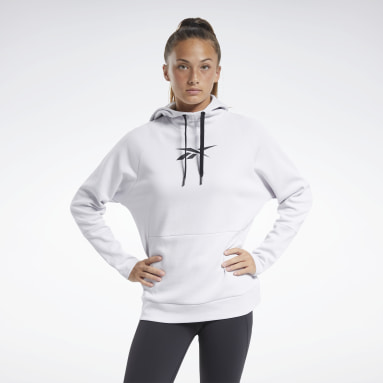 Women City Outdoor White Quik Cotton Vector Hoodie