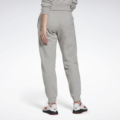 Dam Fitness & Träning Grå Reebok Identity French Terry Pants