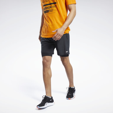 Men Fitness & Training Black Two-in-One Epic Shorts