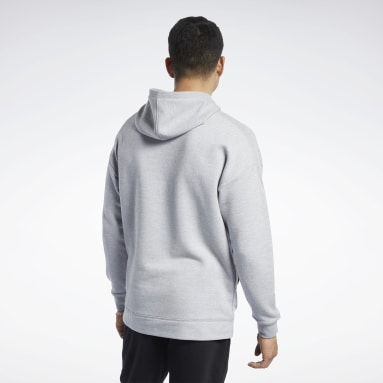 Sweat à capuche chiné Training Essentials Grey Hommes Entraînement