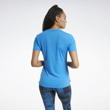 Women Cycling Blue ACTIVCHILL Athletic Tee