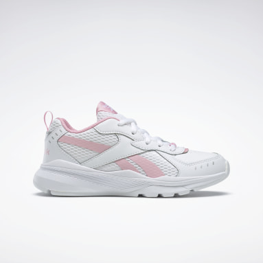 Girls Running White Reebok XT Sprinter Shoes