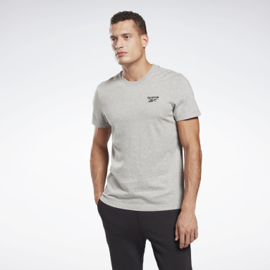 Men Fitness & Training Grey Reebok Identity T-Shirt