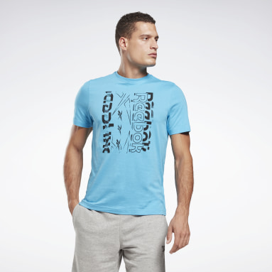 T-Shirt Vector Graphic Turchese Uomo Fitness & Training