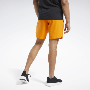Men Training Orange Workout Ready Shorts