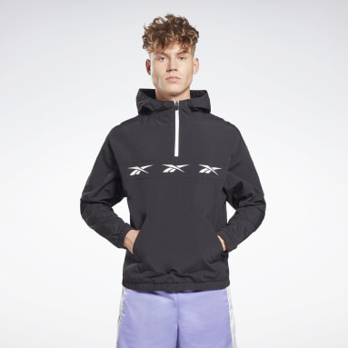 Mænd City Outdoor Black Training Essentials Vector Anorak Jacket