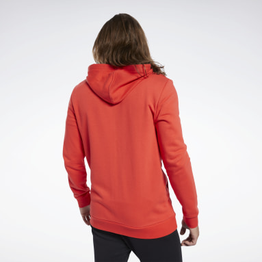 Men Fitness & Training Red Training Essentials Linear Logo Hoodie