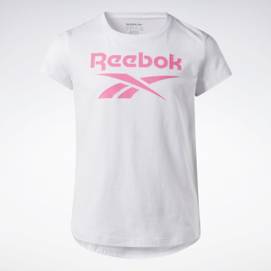 T-shirt Reebok Lock Up Bianco Ragazza Fitness & Training