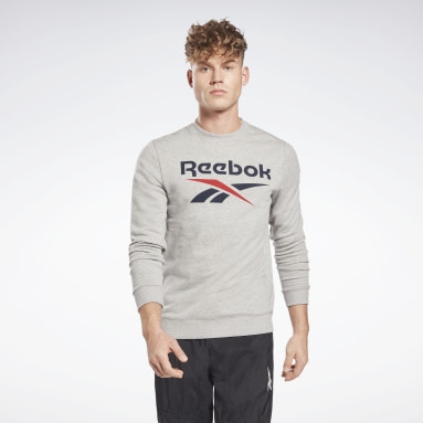 Men Fitness & Training Grey Reebok Identity Big Logo Crew