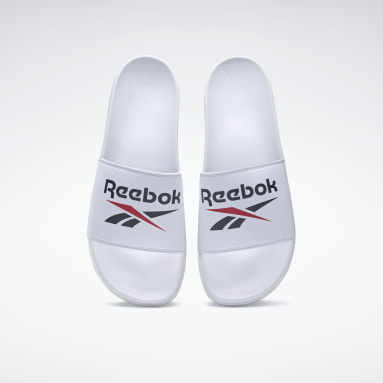 Men Swimming White Reebok Fulgere Slides
